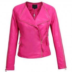 Motorbike Women Leather Jacket